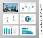 set of blue template for... | Shutterstock .eps vector #475156078