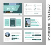 set of turquoise template for... | Shutterstock .eps vector #475156120