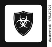 Radioactive Sign Icon In Simpl...