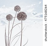 floral background with sky | Shutterstock . vector #475168264