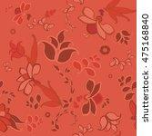 pink floral seamless pattern | Shutterstock .eps vector #475168840