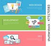vector line banners set.... | Shutterstock .eps vector #475170583