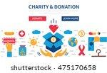 donation vector concept... | Shutterstock .eps vector #475170658