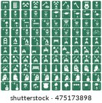 set of camping equipment icons. ... | Shutterstock .eps vector #475173898
