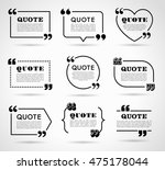 collection of vector quote... | Shutterstock .eps vector #475178044
