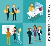 vector set of people in... | Shutterstock .eps vector #475178410