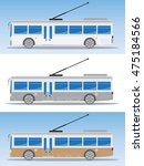 side view of electric bus or... | Shutterstock .eps vector #475184566