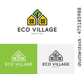 eco village logo design...