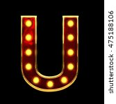 u isolated golden letter with... | Shutterstock . vector #475188106