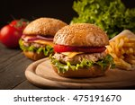 home made hamburger with beef ... | Shutterstock . vector #475191670