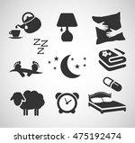 good night   sleep icon set... | Shutterstock .eps vector #475192474