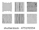 six different net patterns.... | Shutterstock .eps vector #475193554