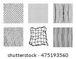 six different net patterns.... | Shutterstock .eps vector #475193560
