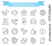 contact us and communication... | Shutterstock .eps vector #475196689