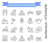 corporate business management... | Shutterstock .eps vector #475196698