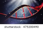 3d illustration of dna molecule.... | Shutterstock . vector #475200490