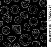 seamless pattern with diamonds... | Shutterstock . vector #475201219