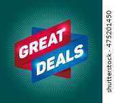 great deals arrow tag sign icon. | Shutterstock .eps vector #475201450