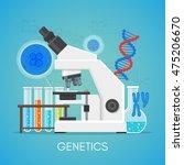 genetics science education... | Shutterstock .eps vector #475206670