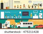 activities reading class... | Shutterstock .eps vector #475211428