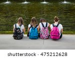 Girls With Colorful Backpack...