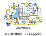 modern flat editable line... | Shutterstock .eps vector #475213090