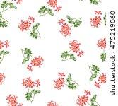 cute watercolor flowers... | Shutterstock . vector #475219060