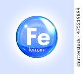 ferrum mineral blue icon.... | Shutterstock .eps vector #475219894