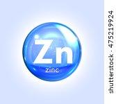 zincum  mineral blue icon.... | Shutterstock .eps vector #475219924