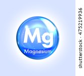 magnesium mineral blue icon.... | Shutterstock .eps vector #475219936