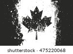 Flag Of Canada In Grunge Style...