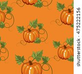 autumn seamless pattern with... | Shutterstock .eps vector #475222156