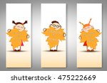 vector set of three back to... | Shutterstock .eps vector #475222669