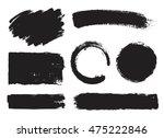 set of creative grunge banners  ... | Shutterstock .eps vector #475222846
