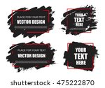 set of creative grunge banners  ... | Shutterstock .eps vector #475222870