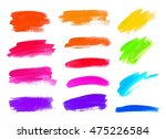hand drawn colorful highlight... | Shutterstock . vector #475226584