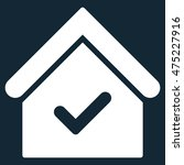 valid house icon. vector style...