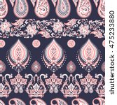 paisley floral oriental ethnic... | Shutterstock .eps vector #475233880