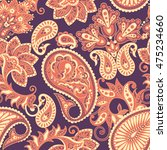 paisley seamless pattern.... | Shutterstock .eps vector #475234660