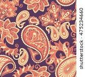 paisley seamless pattern.... | Shutterstock .eps vector #475234660