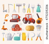 items  tools and agricultural... | Shutterstock .eps vector #475235206