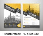 brochure design template vector.... | Shutterstock .eps vector #475235830