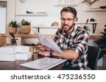 keeping track of deliveries and ... | Shutterstock . vector #475236550
