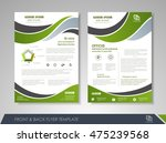 front and back page annual... | Shutterstock .eps vector #475239568