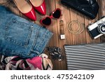 girls fashion | Shutterstock . vector #475242109