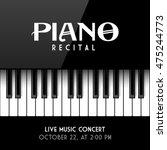 Piano Recital Poster  Leaflet...