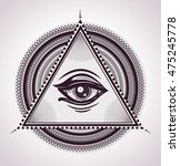 all seeing eye pyramid symbol.... | Shutterstock .eps vector #475245778