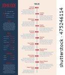 modern cv resume curriculum...   Shutterstock .eps vector #475246114