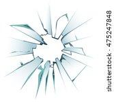 accidentally broken frosted...   Shutterstock .eps vector #475247848