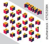 isometric 3d type font set.... | Shutterstock .eps vector #475252084